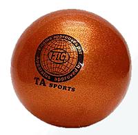 Мяч для художественной гимнастики, д-15см. Цвет оранжевый, TA Sport.