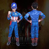 Детский костюм Капитан Америка рельефный, разные размеры , фото 1