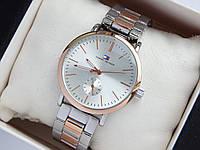 Наручные часы Tommy Hilfiger серебро-розовое золото, дополнительный циферблат, фото 1