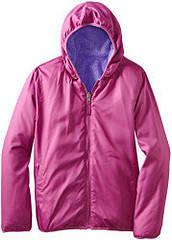 Двусторонняя меховая куртка ветровка (Размер 3-4Т)  Pink Platinum (США)