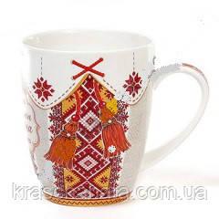 Чашка фарфоровая, Вышиванка, 350 мл