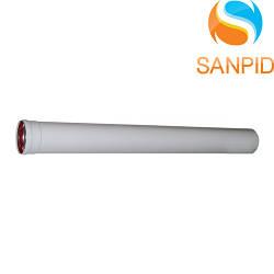 Удлинитель для коаксиального дымохода конденсационного котла 60/100 L=1000 мм
