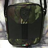 Барсетка Puma Ferrari сумка мужская через плечо коттон+кож.зам. В расцветках, фото 3