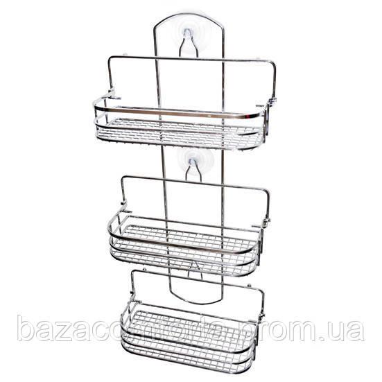 Полка для ванной Besser прямоугольная раскладная 58*26*12см