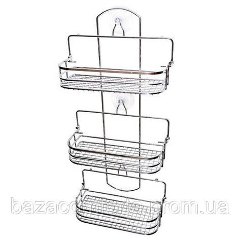 Полка для ванной Besser прямоугольная раскладная 58*26*12см, фото 2