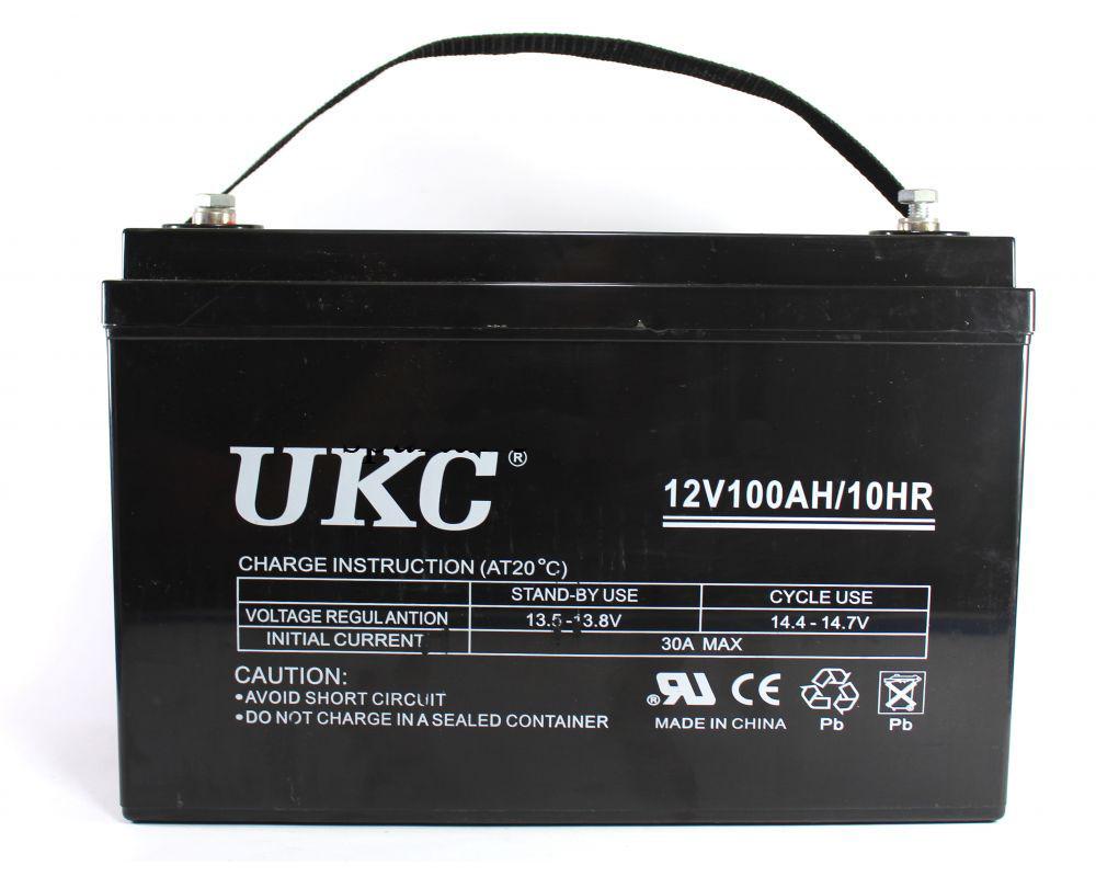 Аккумулятор гелевый - 100 Ач 12В GEL UKC