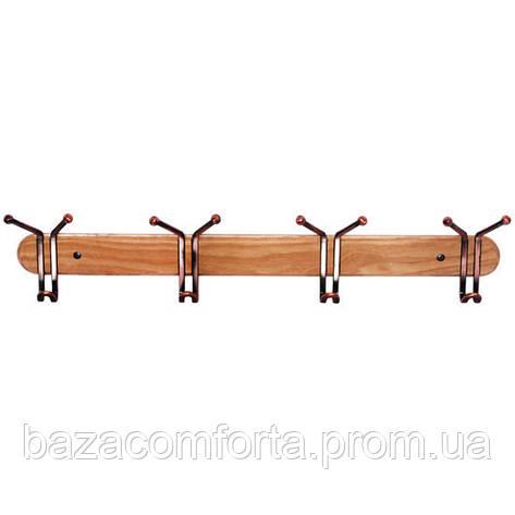 Крючки тройные Besser 4шт 63см на деревянной планке, фото 2
