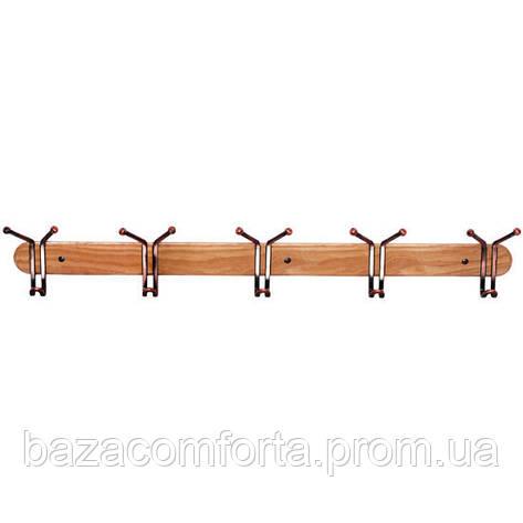 Крючки тройные Besser 5шт 80см на деревянной планке, фото 2