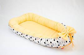 Кокон - позиционер для малыша BabySoon Персиковые барашки 50Х80см (452)