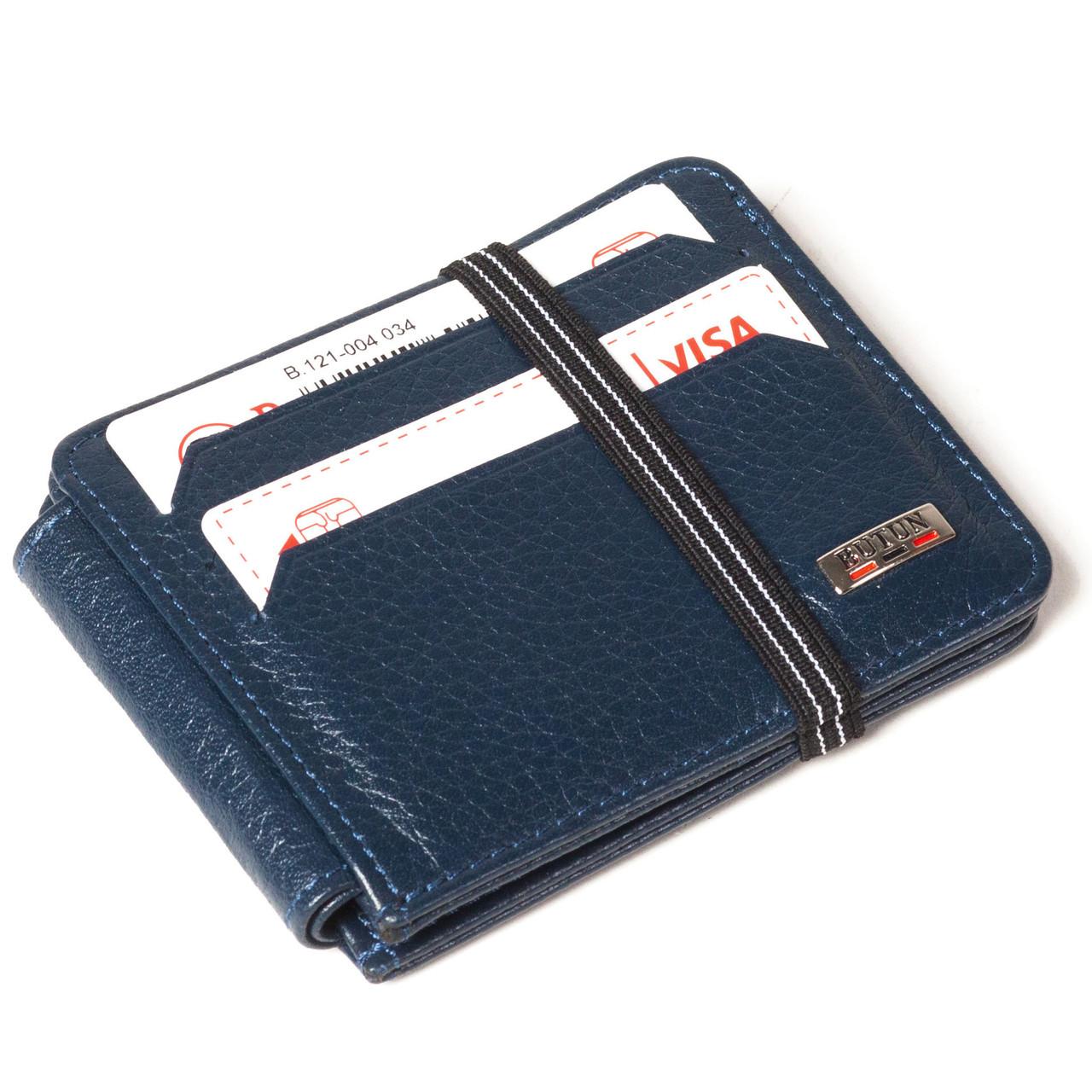 Кошелек-кредитница Butun 121-004-034 кожаный синий