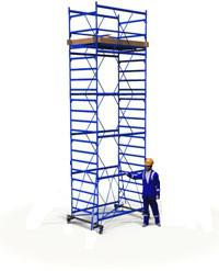 Вышка тура металлическая 1.7х0.8м (4+1) рабочая высота 7,2м