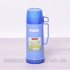 Термос 2070 пластиковый со стеклянной колбой Kamille 450мл, фото 2