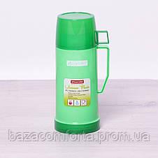 Термос 2071 пластиковый со стеклянной колбой Kamille 600мл, фото 3
