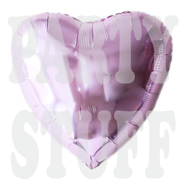 фольгированное сердце светло-фиолетовое