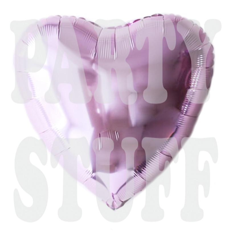 Фольгированный шар Сердце светло-фиолетовое, 44*45 см