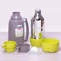 Термос 2081 пластиковый со стеклянной колбой Kamille 1800мл, фото 3