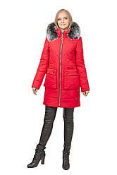 Зимняя женская куртка SV - 7418м цвет красный