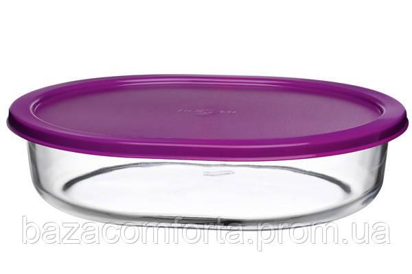 Форма овальная Borcam 520мл (190*140*40мм) с крышкой (59794/K)