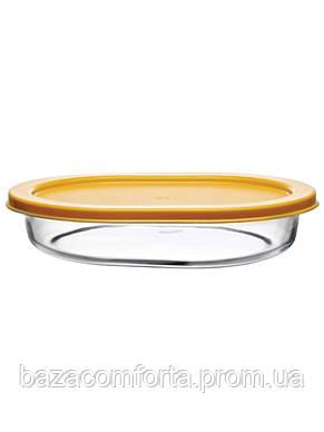 Форма овальная Borcam 520мл (190*140*40мм) с крышкой (59794/K), фото 2