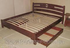 """Кровать полуторная с ящиками """"Сакура"""". Массив - сосна, ольха, береза, дуб., фото 3"""
