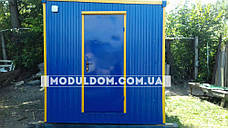 Пост охраны (3 х 2.4 м.) КПП, блокпост с решетками для окон., фото 2