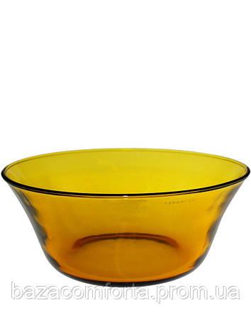 Салатница стеклянная Pasabahce Amber Ø225мм, фото 2