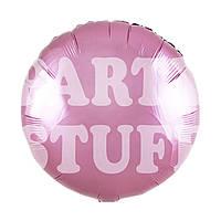 Фольгированный шарик светло-розовый Китай, 45*45 см (18')