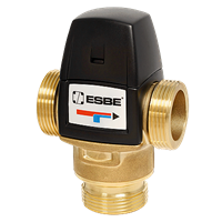 """ESBE VTA322 3-х клапан 1"""" 20-43С° Kvs 1,6 термостатический смесительный клапан для теплого пола"""