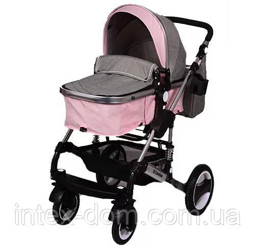 Универсальная коляска El Camino Grande ME 1006-8-11 Pink