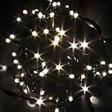 Гирлянда БАХРОМА МЕРЦАНИЕ 3*0.8м тепло-белая (провод черный каучук), фото 6
