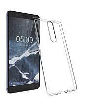 Ультратонкий чехол для Nokia 5.1 прозрачный