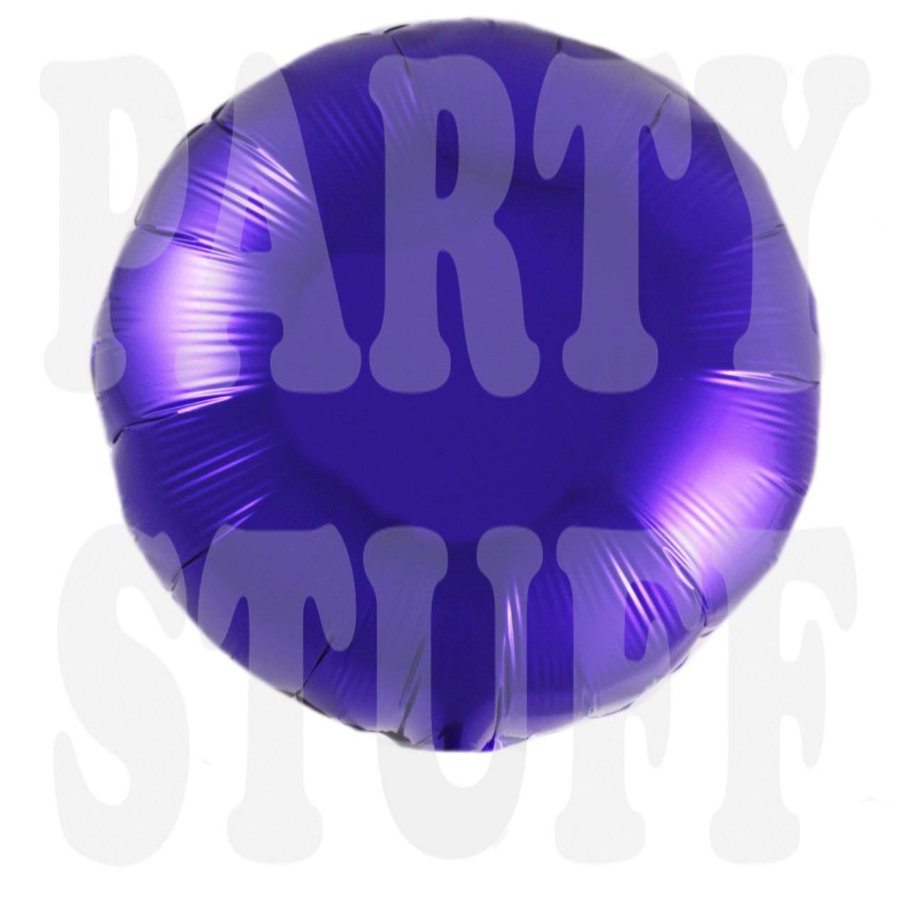 Шарик фольгированный, фиолетовый, 45*45 см