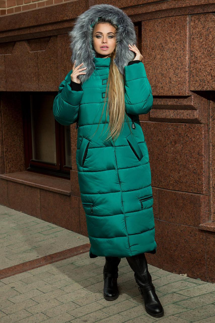 Удлиненное плащевое женское пальто с капюшоном 6902108