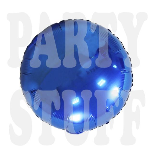 шар круглый фольгированный королевский синий