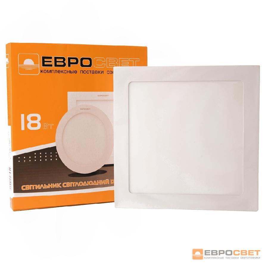 Светильник точечный накладной ЕВРОСВЕТ 18Вт квадрат LED-SS-225-18 6400К
