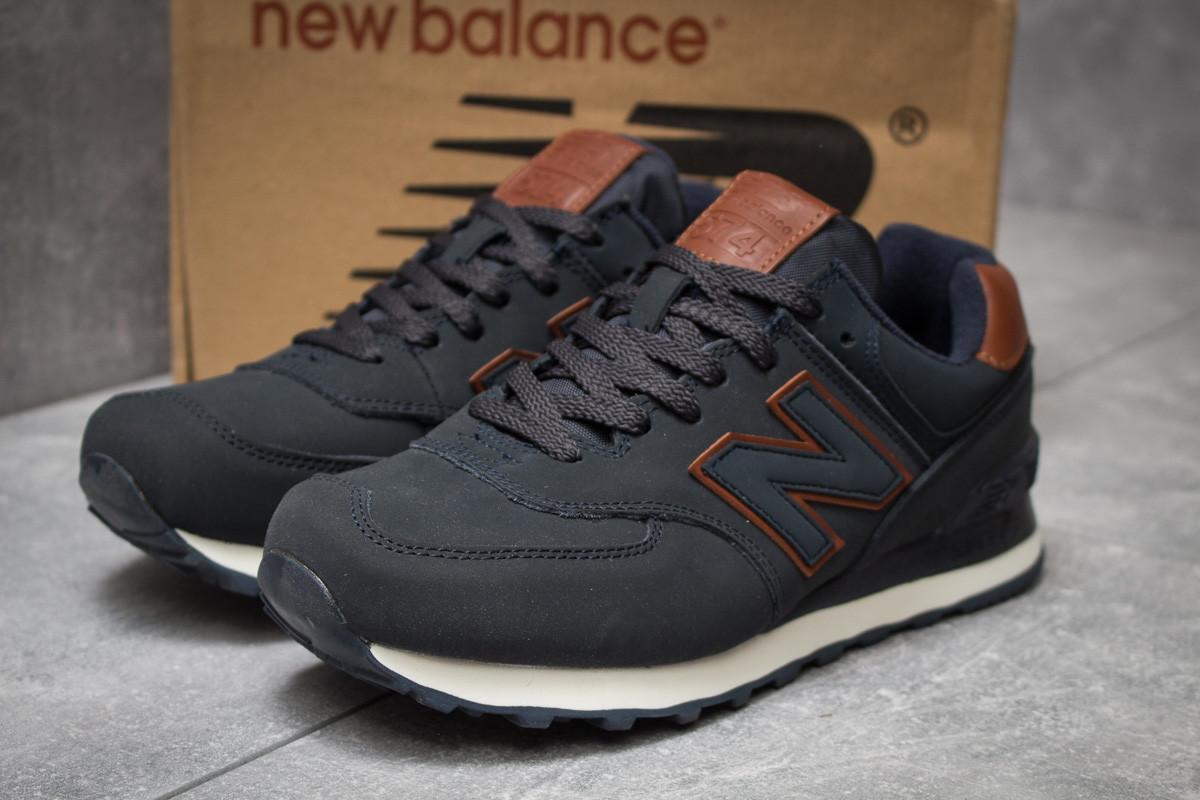 ... Темно-синие замшевые мужские кроссовки New Balance 574 (Нью Баланс)  весна осень ... 3afe0c3213c4f
