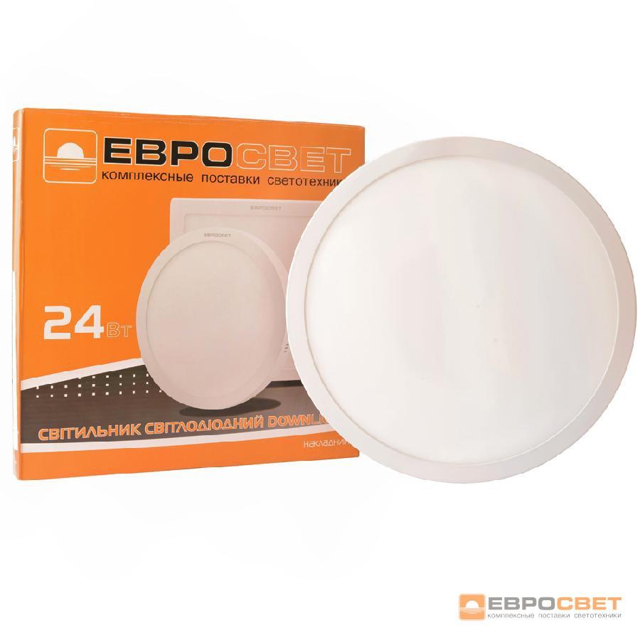 Светильник точечный накладной ЕВРОСВЕТ 24Вт круг LED-SR-300-24 4200К