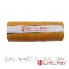 EH-AHT-1838 Жёлтая изолента 50м. 0,15мм х 18мм