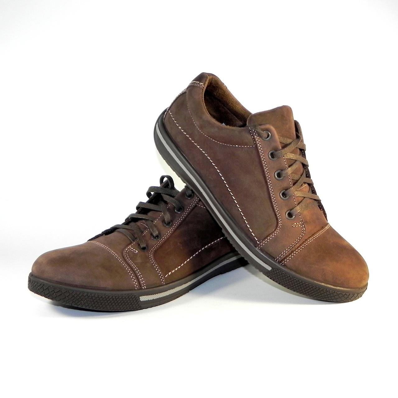 e98add3b3 Кроссовки мужские кожаные Tigina Waterproof коричневые (весна/осень) -  интернет-магазин