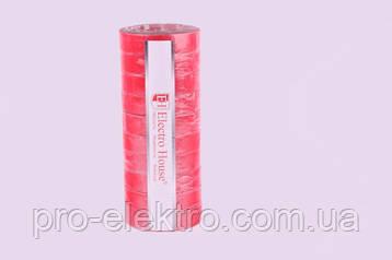 EH-AHT-1841 Красная изолента 50м. 0,15мм х 18мм, фото 2