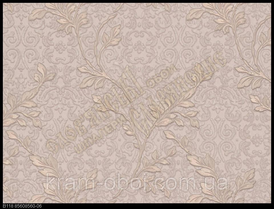 Обои Славянские Обои КФТБ виниловые горячего тиснения шелкография 10м*1,06 9В118 Элина 8560-06