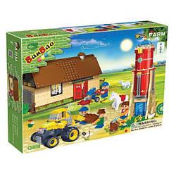 Конструктор BANBAO 8569 ферма, трактор, 4шт фігурки, 590 деталей.