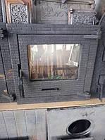Дверца топочная для камина со стеклом