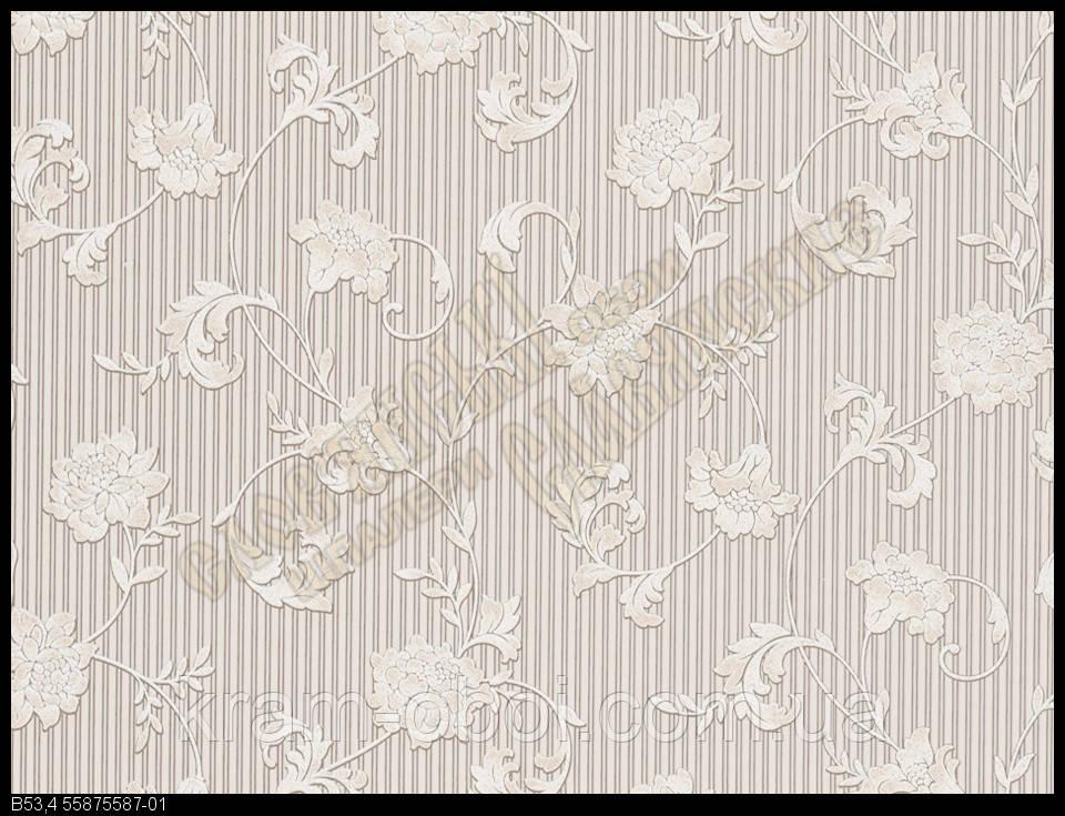 Обои Славянские Обои КФТБ виниловые на бумажной основе 10 метровые 10м*0,53 9В53 Бонни 2 5587-01