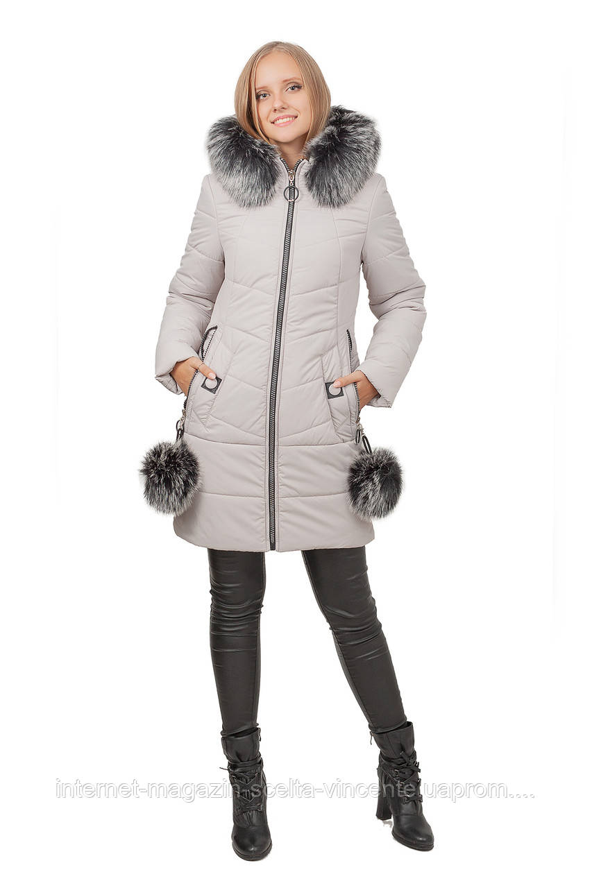 5ce5f4ce421 Зимняя женская куртка SV - 7118м цвет лед - интернет-магазин