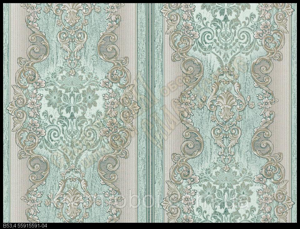 Обои Славянские Обои КФТБ виниловые на бумажной основе 10 метровые 10м*0,53 9В53 Эскимо 2 5591-04