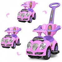 Каталка-толокар Bambi HZ 558 W-8-9 Pink/Lilas  , фото 1