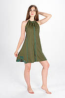 """Сукня вишита """"Мавка міні"""", олива, фото 1"""