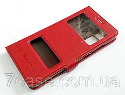 Чехол книжка с окошками momax для Meizu Pro 7 красный