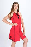 """Сукня вишита """"Мавка міні"""", червона"""
